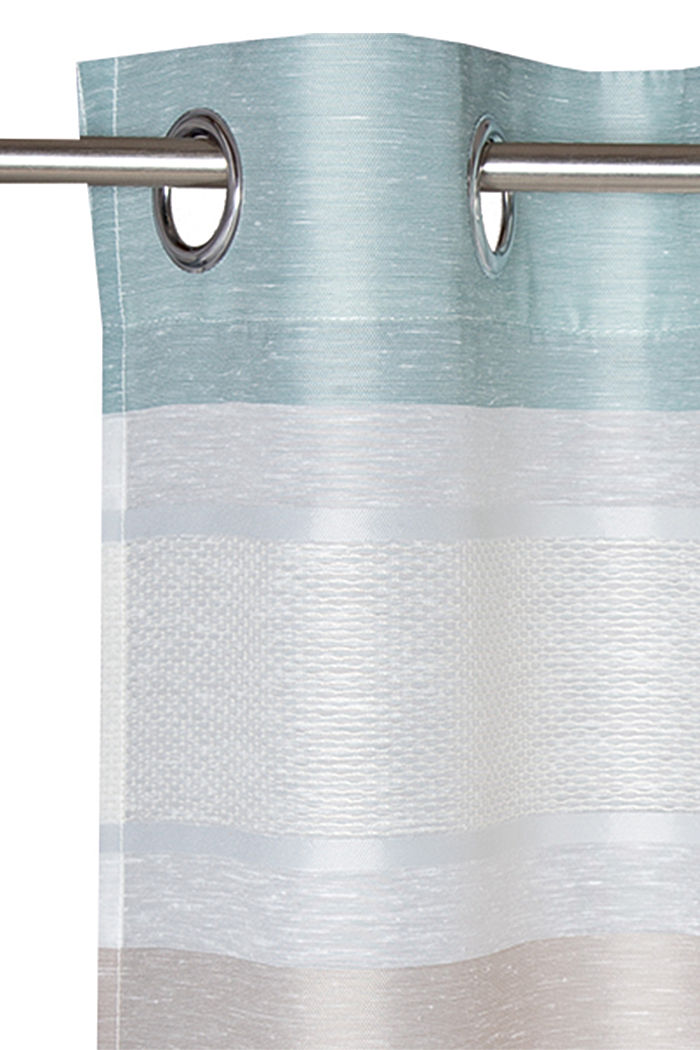 Eyelet curtain with stripes