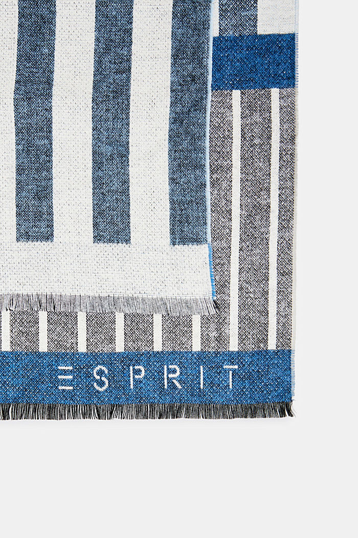 Logo and mixed stripe throw, BLUE, detail image number 2