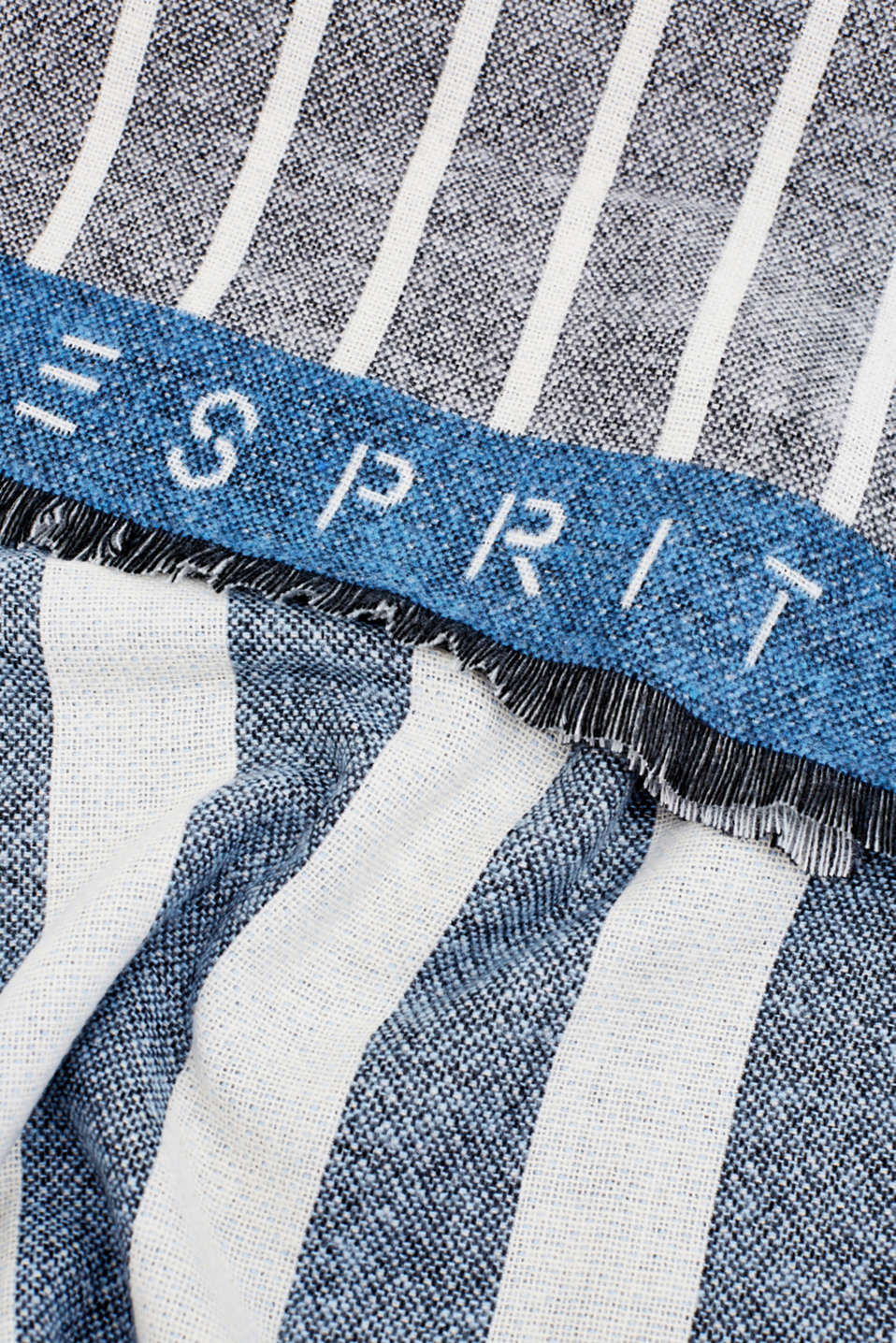 Logo and mixed stripe throw, BLUE, detail image number 1