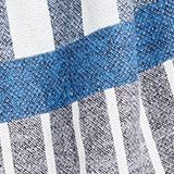 Logo and mixed stripe throw, BLUE, swatch