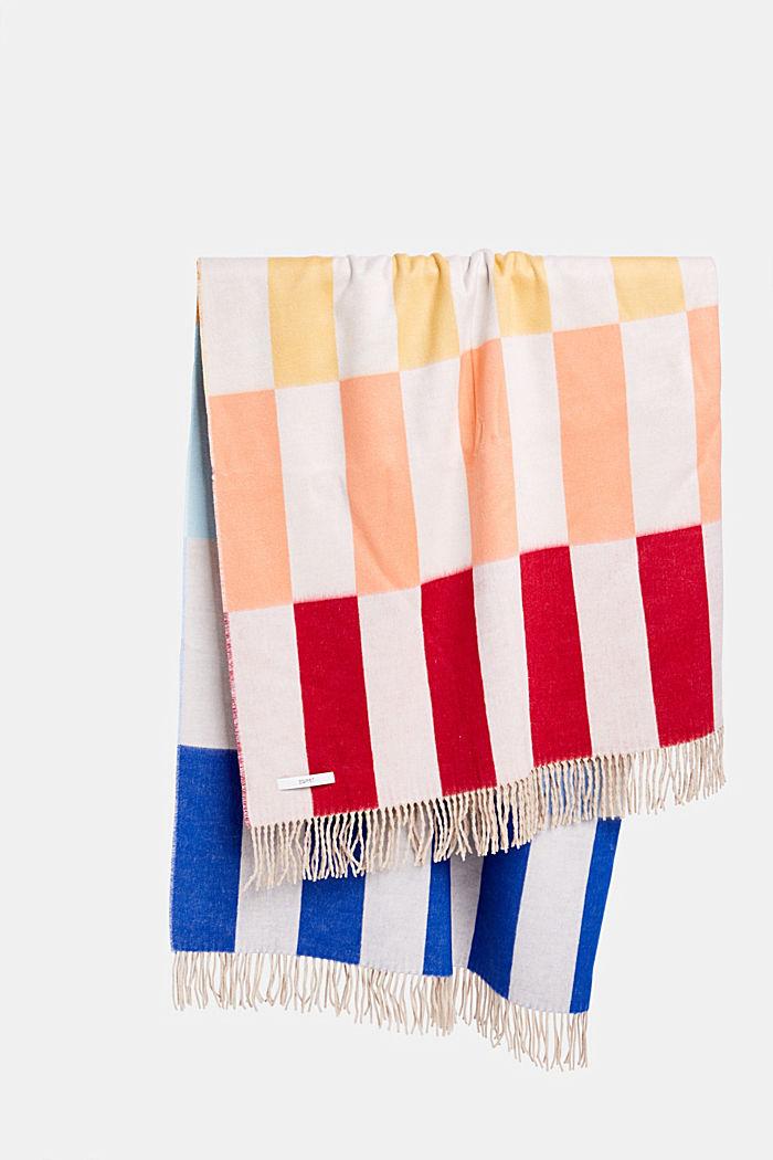 Colour block plaid made of Cashmink®, MULTICOLOUR, detail image number 0