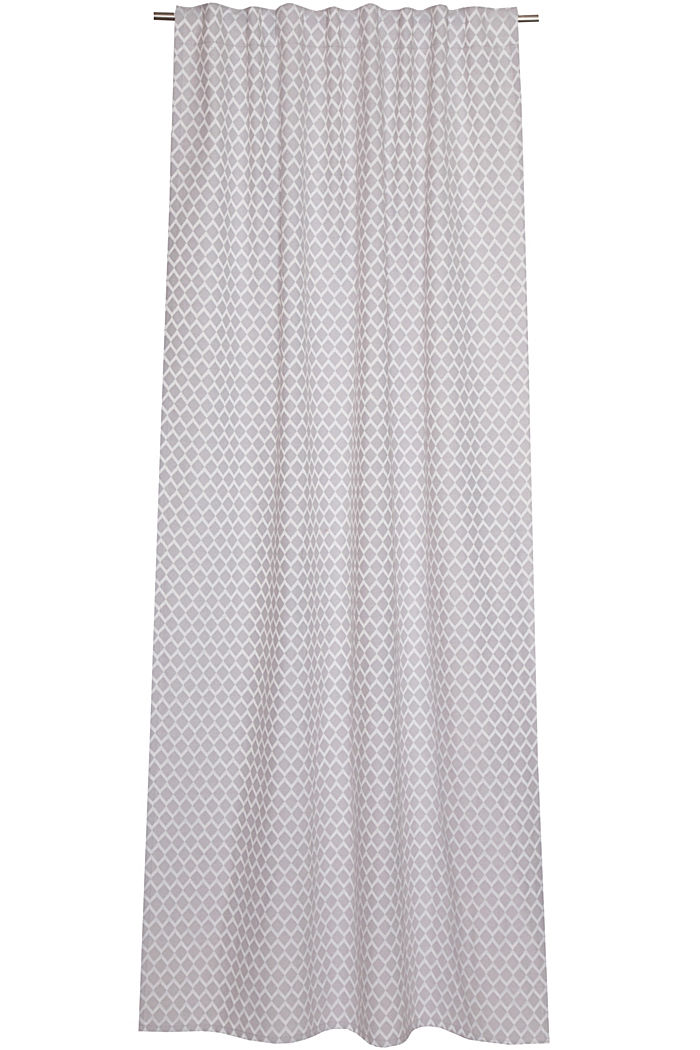 Curtain with a woven pattern, GREY, detail image number 0