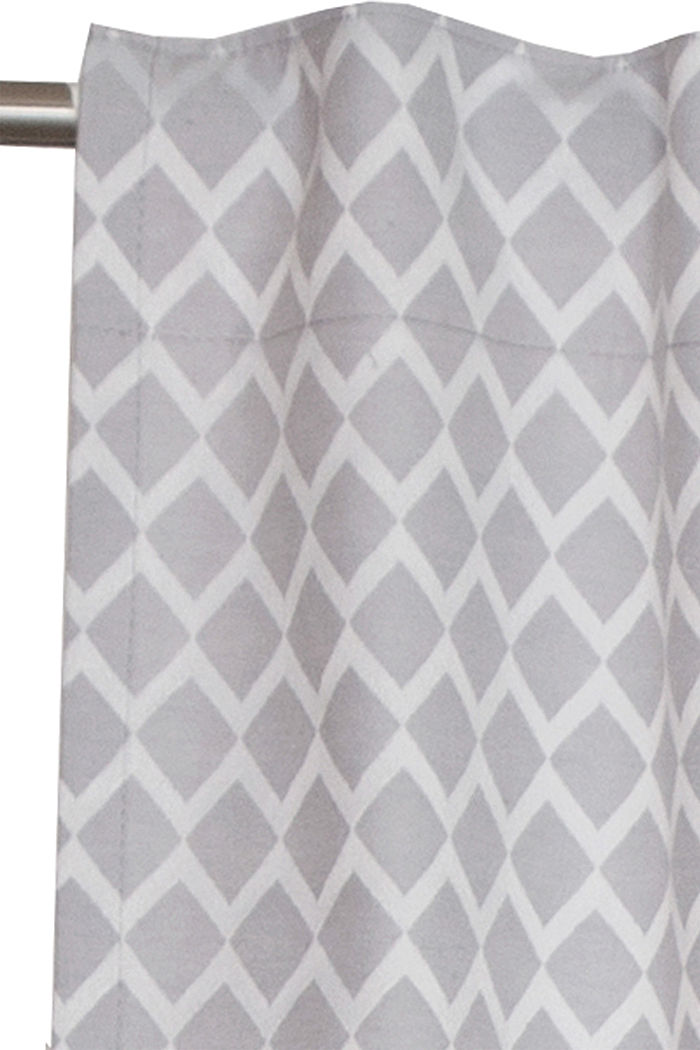 Curtain with a woven pattern, GREY, detail image number 1