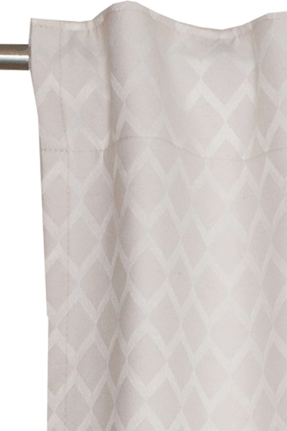 Curtain with a woven pattern, BEIGE, detail image number 1