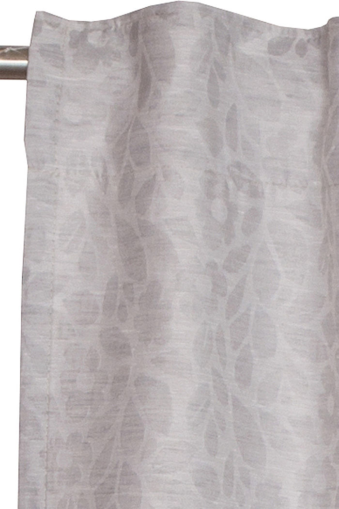 Curtain with a floral pattern, GREY, detail image number 1