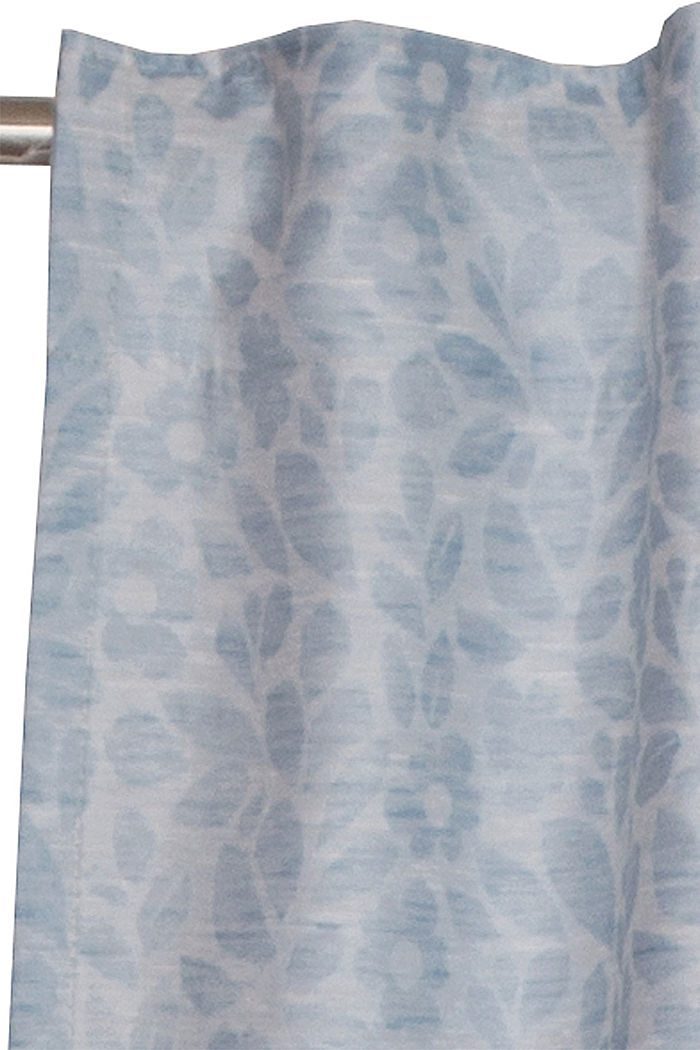 Curtain with a floral pattern, BLUE, detail image number 1