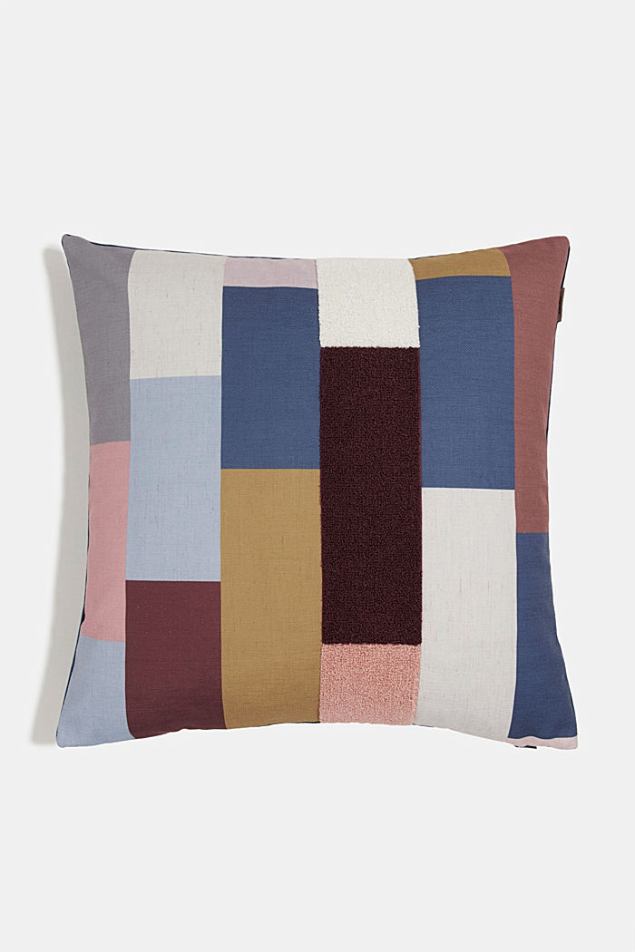 Cushion cover with colourful squares