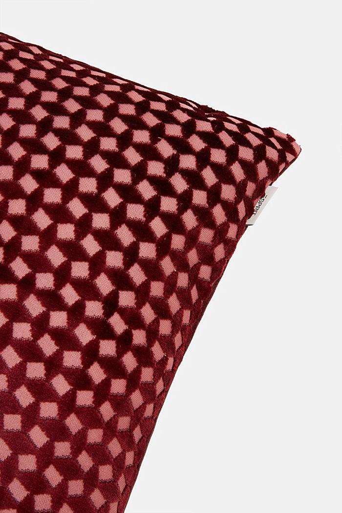 Fluwelen kussenhoes met diamantvormige structuur