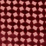Velvet cushion cover with a diamond texture, WINE RED, swatch
