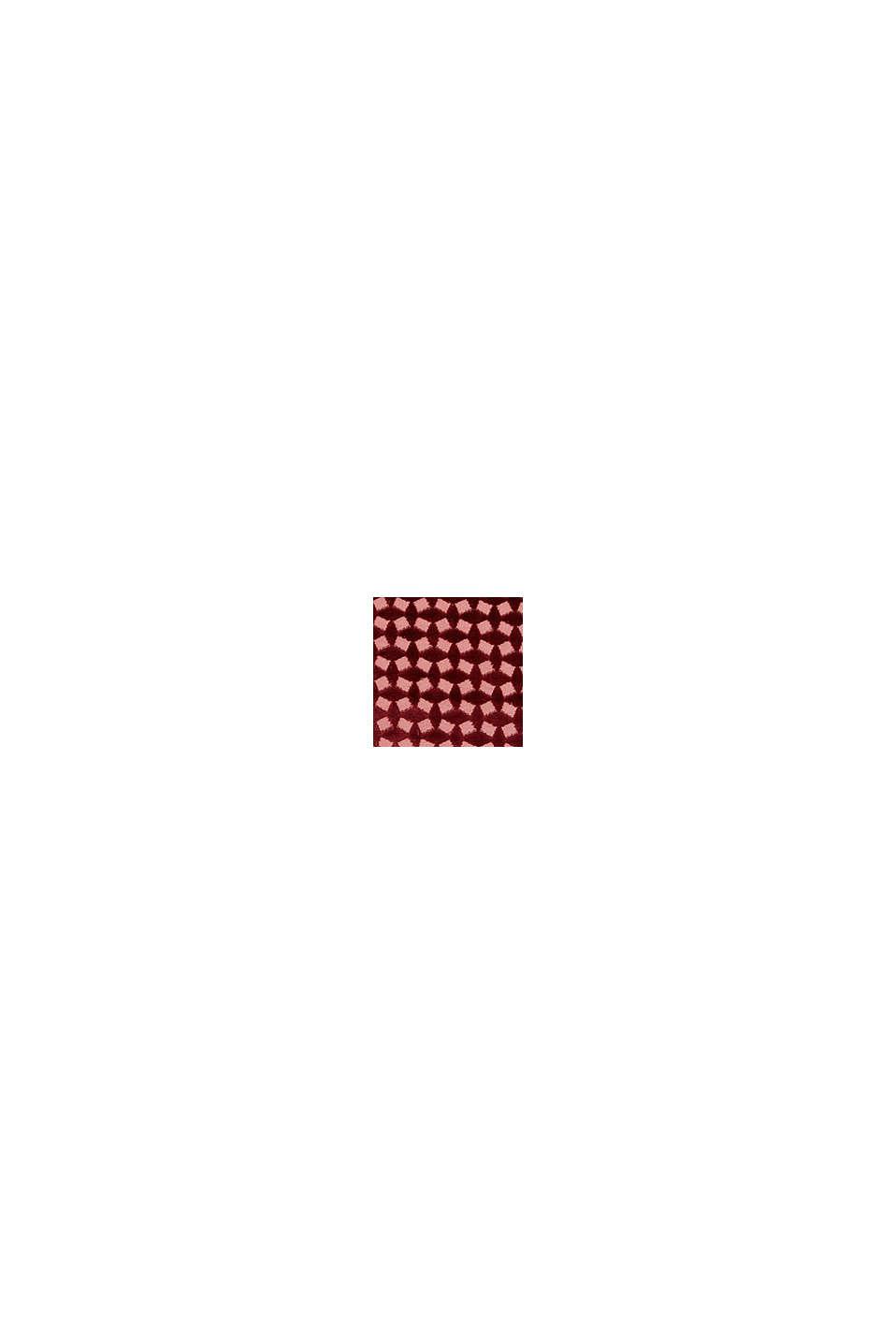 Kissenhülle aus Samt mit Diamant-Struktur, WINE RED, swatch