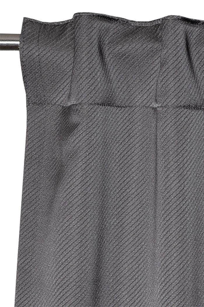 Curtain with concealed loops, DARK GREY, detail image number 1