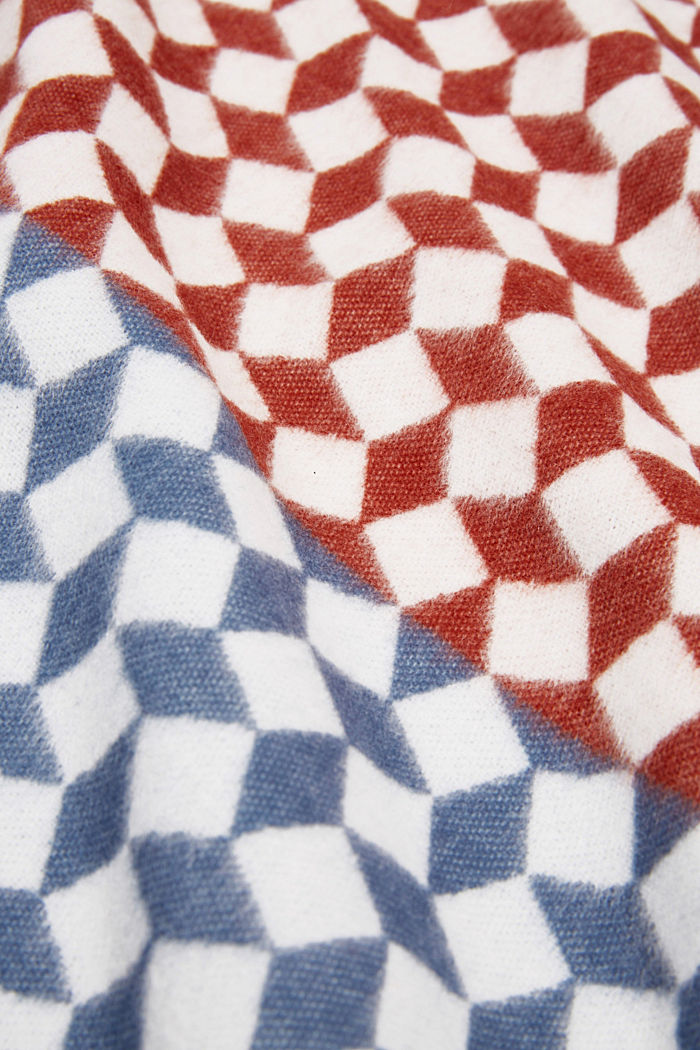 Throw with a graphic pattern, MULTICOLOUR, detail image number 1