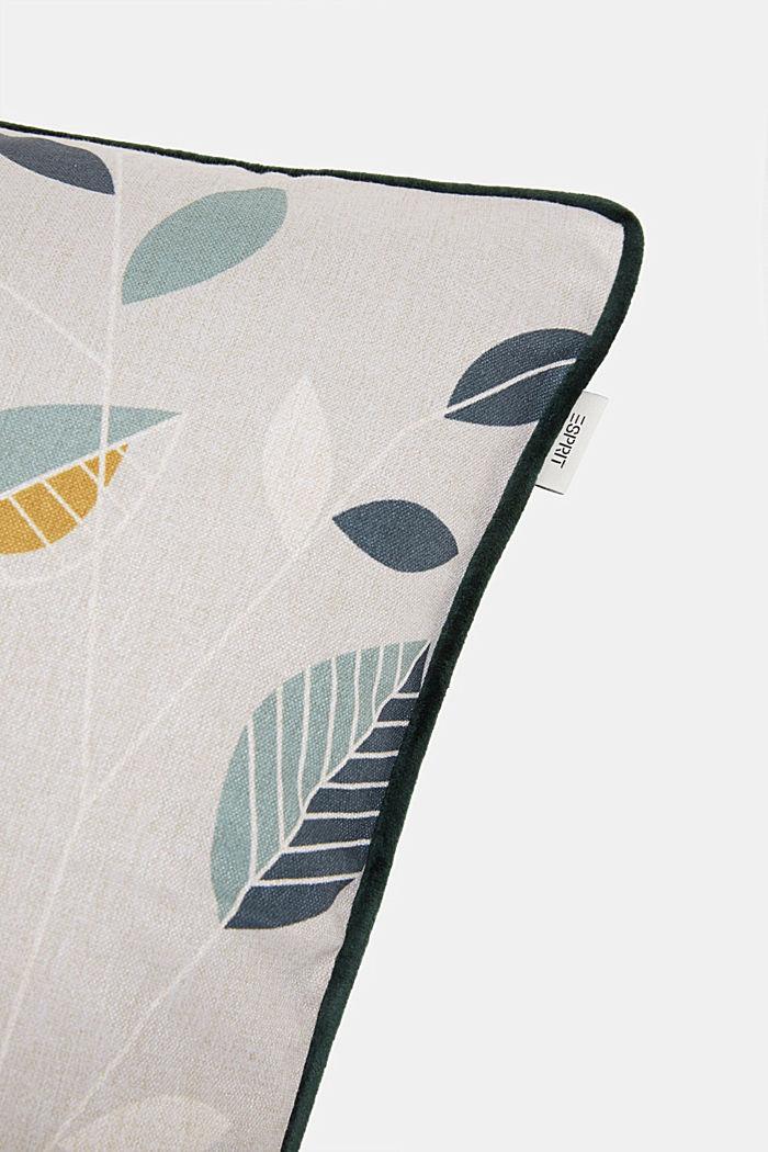 Kissenhülle mit Blätter-Muster
