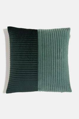 Quilted cushion cover, GREEN, detail