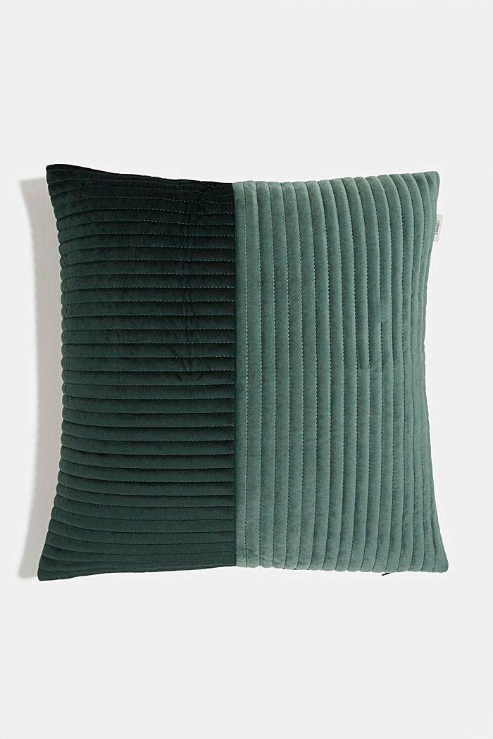 Quilted cushion cover, GREEN, detail image number 0