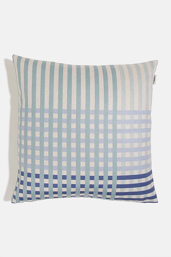 Cushion cover with a check pattern