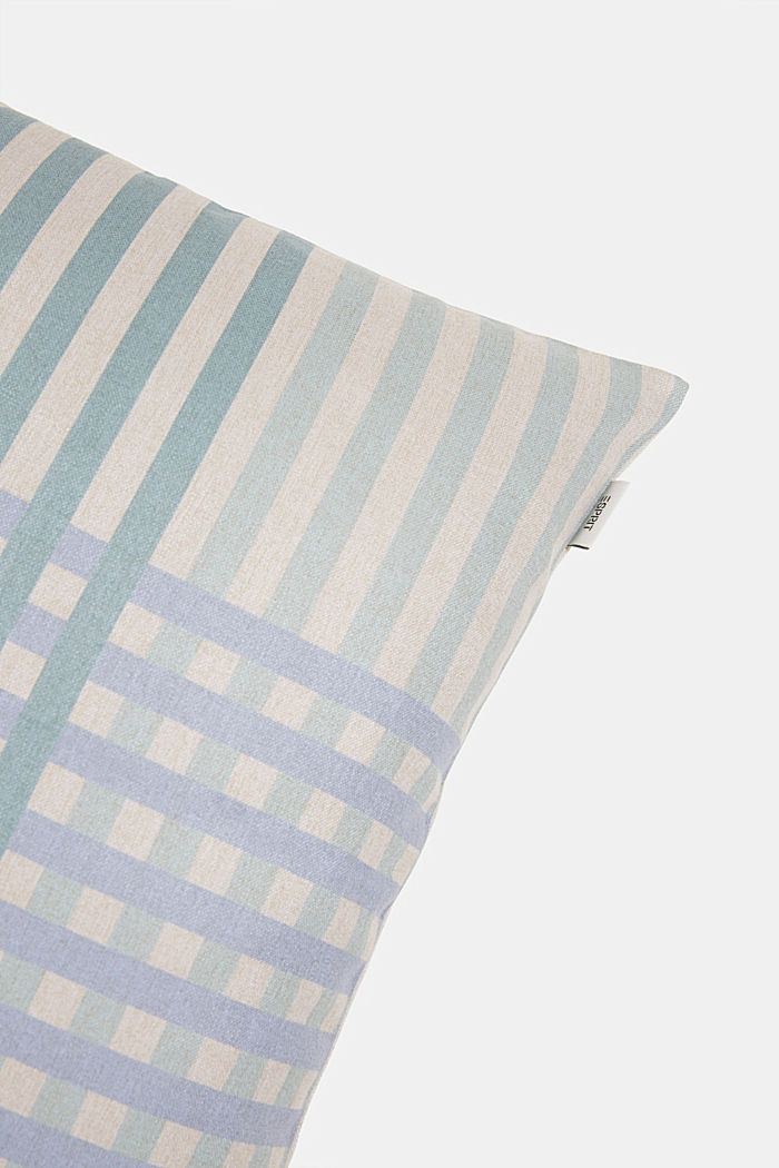 Cushion cover with a check pattern, GREEN, detail image number 1