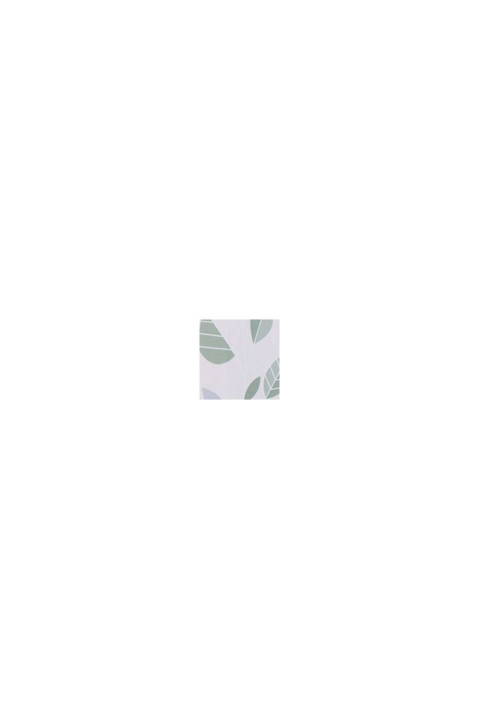 Ösenschal mit Blätter-Muster, GREEN, swatch