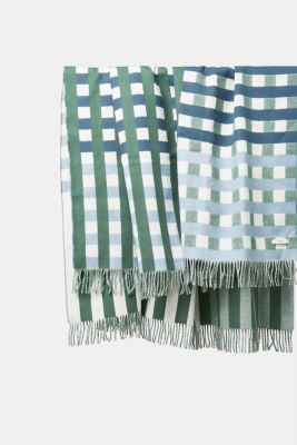 Plaid with check pattern, GREEN, detail