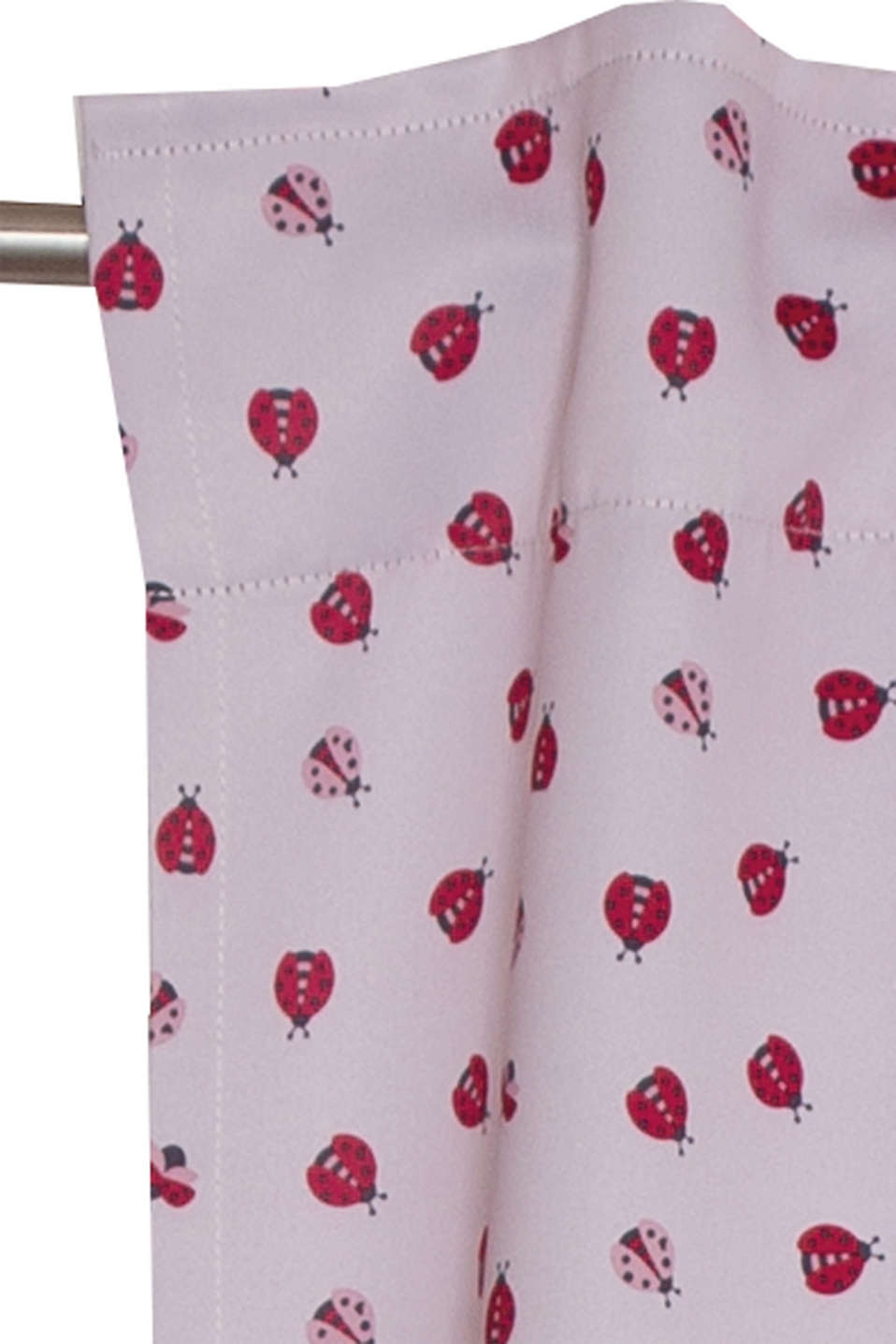 Esprit - Dim-out curtain with a ladybird print