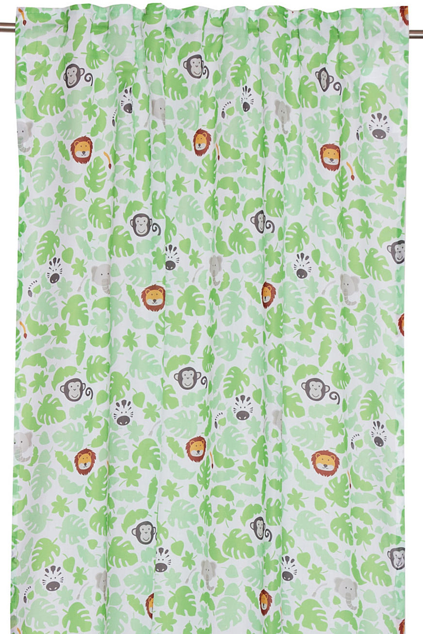Kids motif curtain