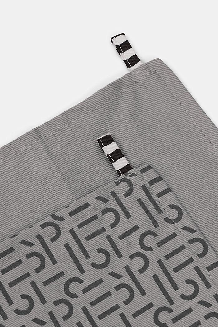 Im 2er-Pack: Geschirrtücher aus 100% Baumwolle, ANTHRACITE, detail image number 2