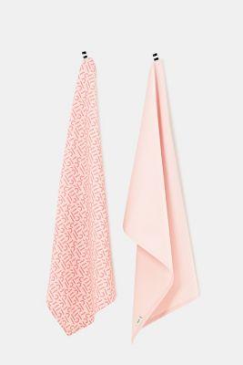 Double pack: 100% cotton tea towels, ROSE, detail