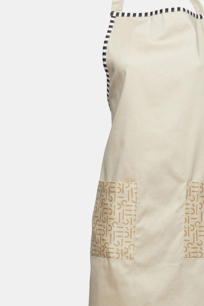 Schürze mit Logo-Taschen, 100% Baumwolle, BEIGE, detail image number 1