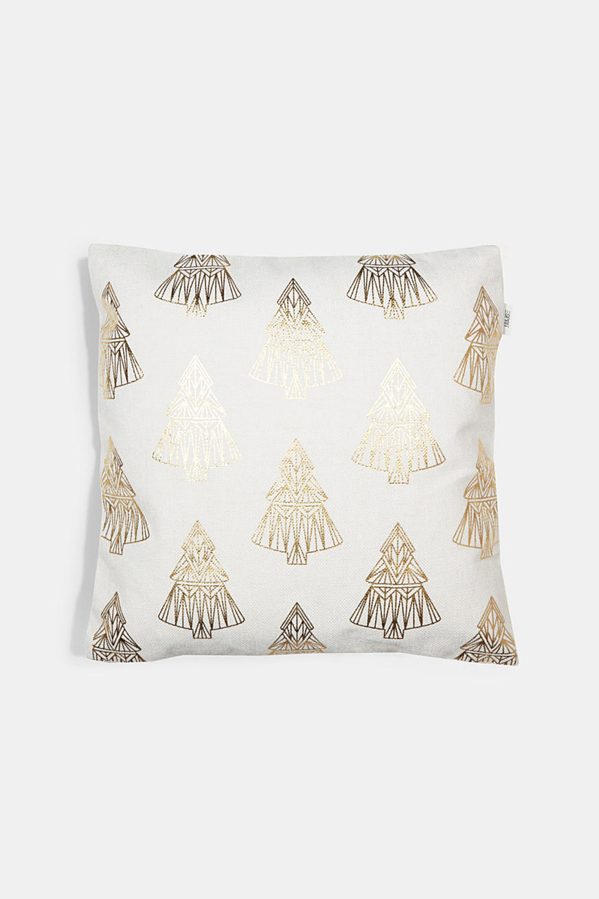 Cushion cover with a gold print