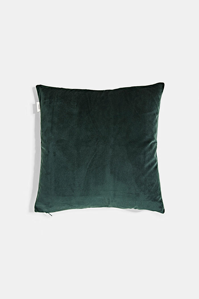 Cushion cover with a gold print, GREEN, detail image number 2