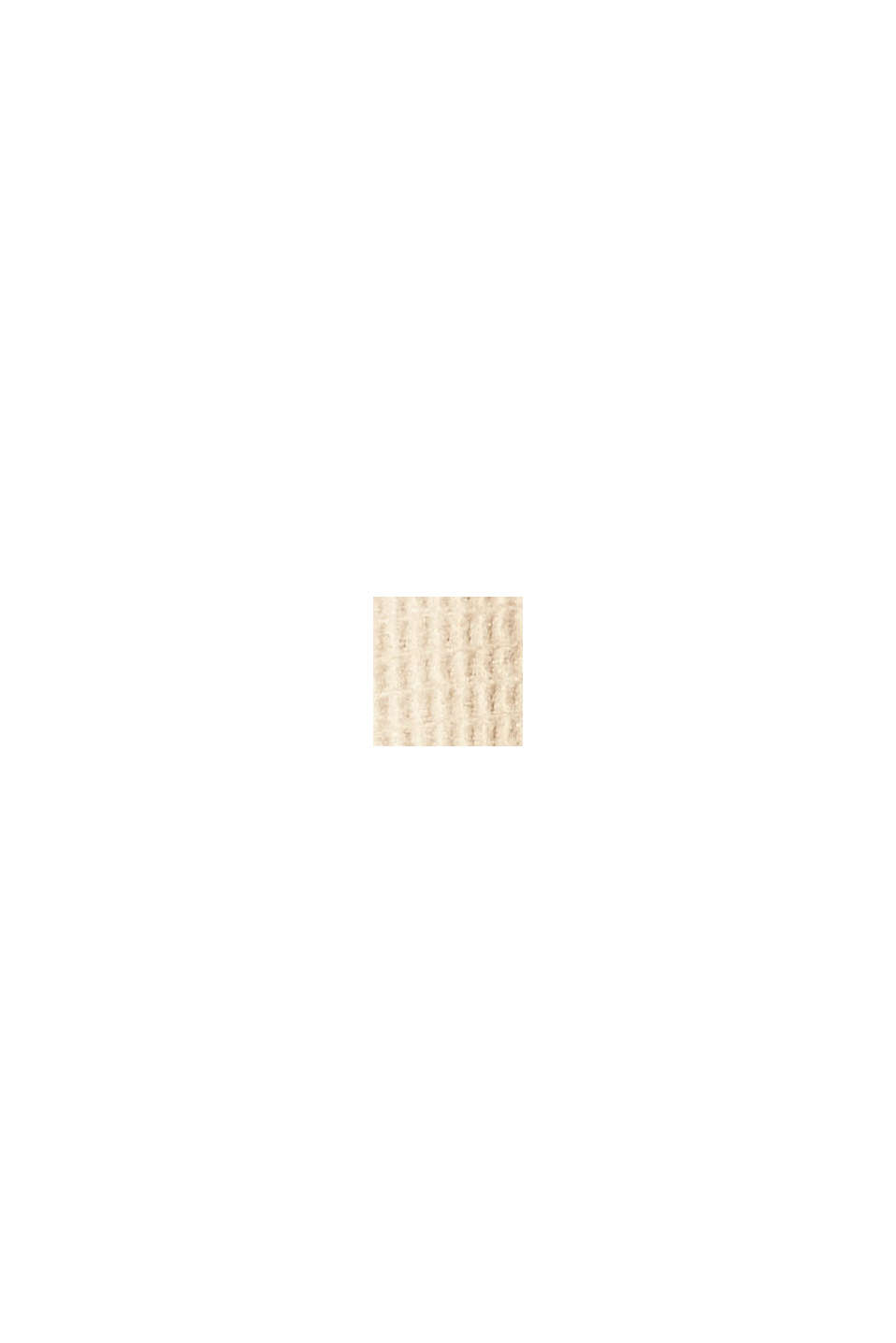 Zachte plaid met structuur van een katoenmix, BEIGE, swatch