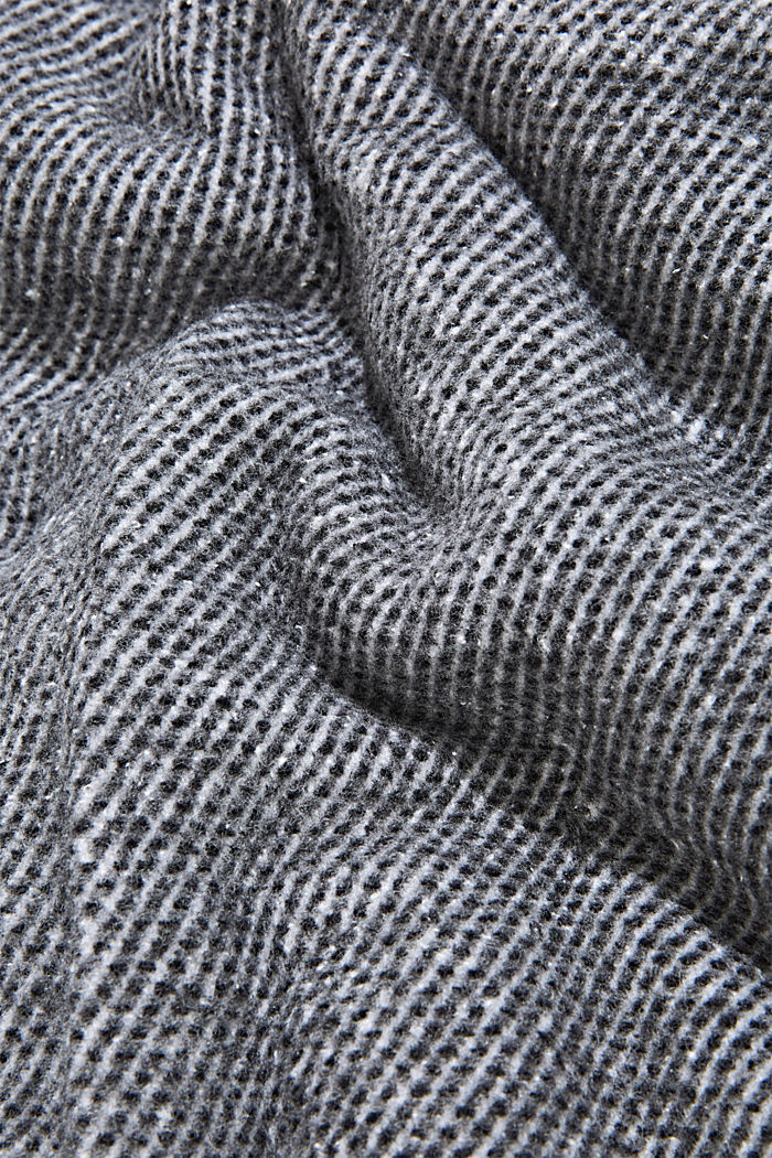Soft throw in blended cotton, ANTHRACITE, detail image number 2
