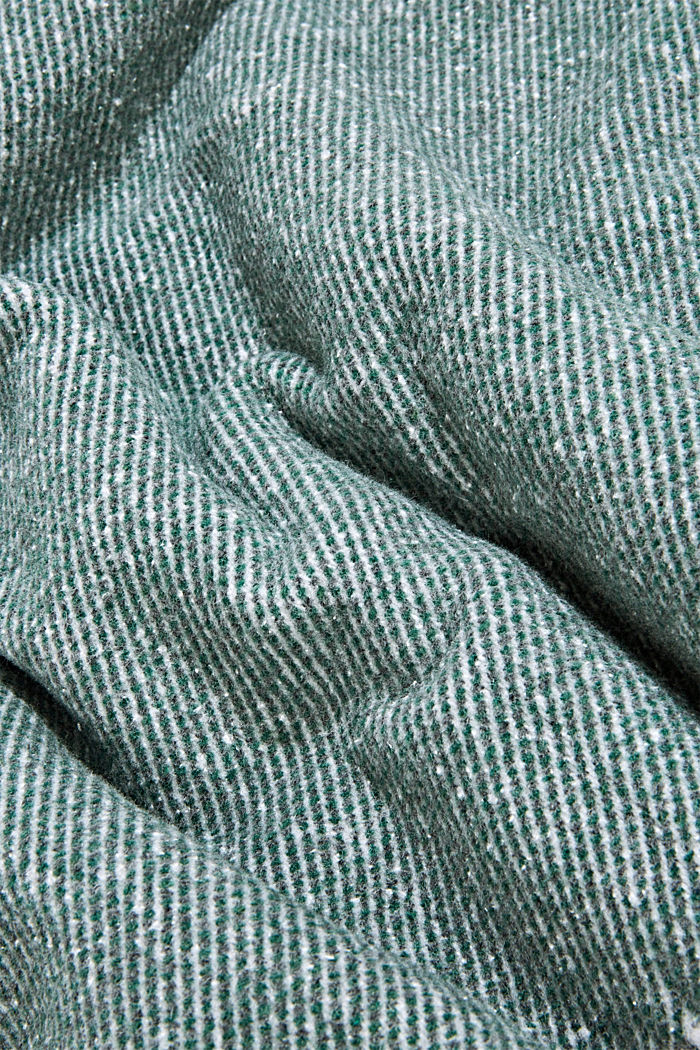 Soft throw with cotton, DARK GREEN, detail image number 1