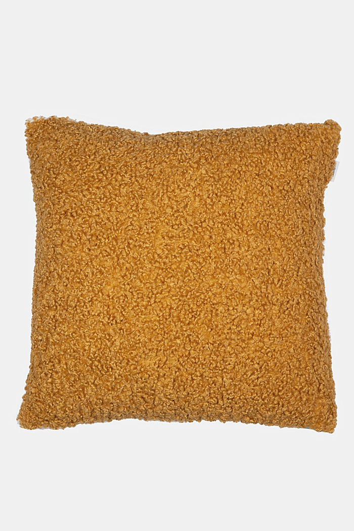 Plush cushion cover, CURRY, detail image number 0