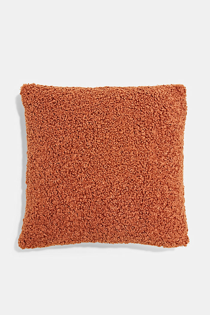 Plush cushion cover, RUST RED, detail image number 0
