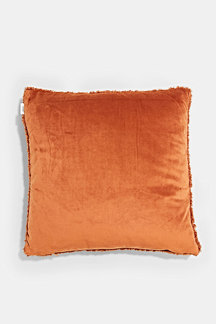 Plush cushion cover, RUST RED, detail image number 2