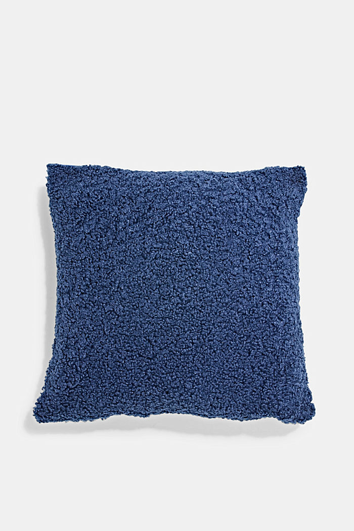 Plush cushion cover, NAVY, detail image number 0