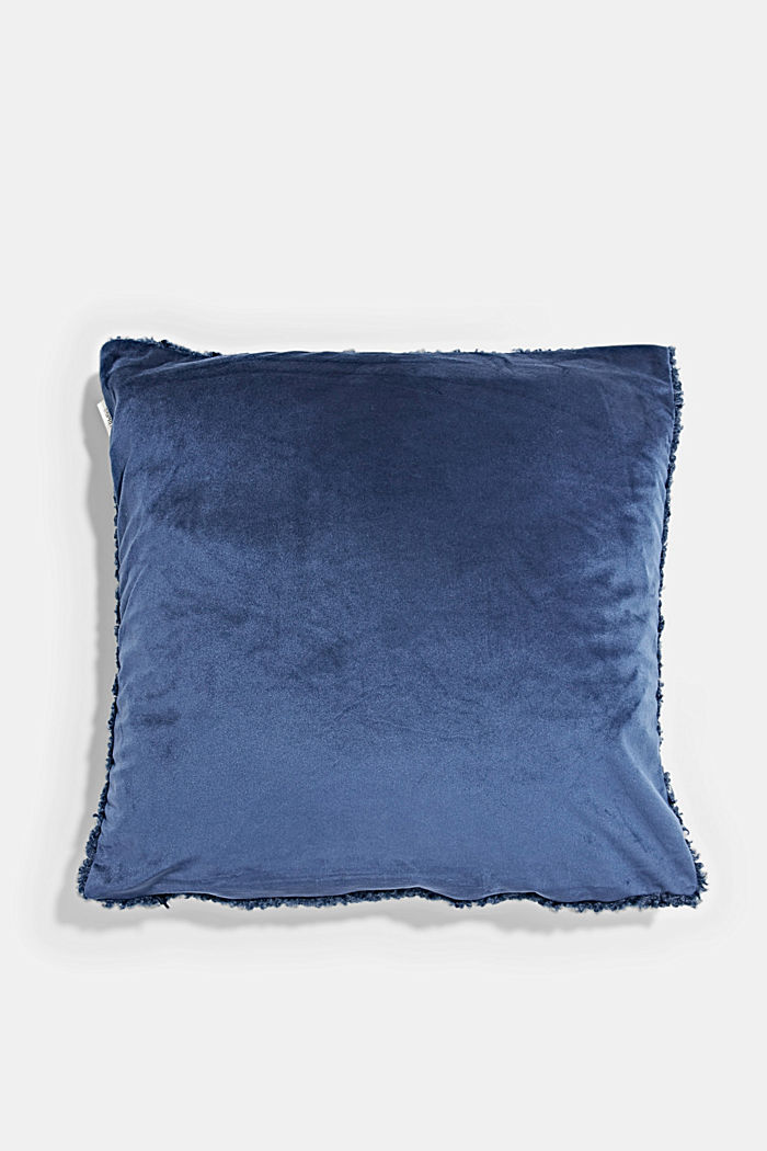 Plush cushion cover, NAVY, detail image number 2