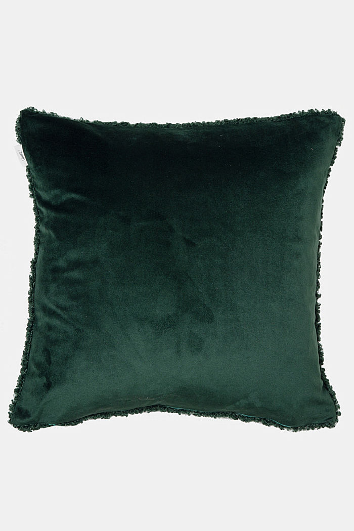Plush cushion cover, GREEN, detail image number 2