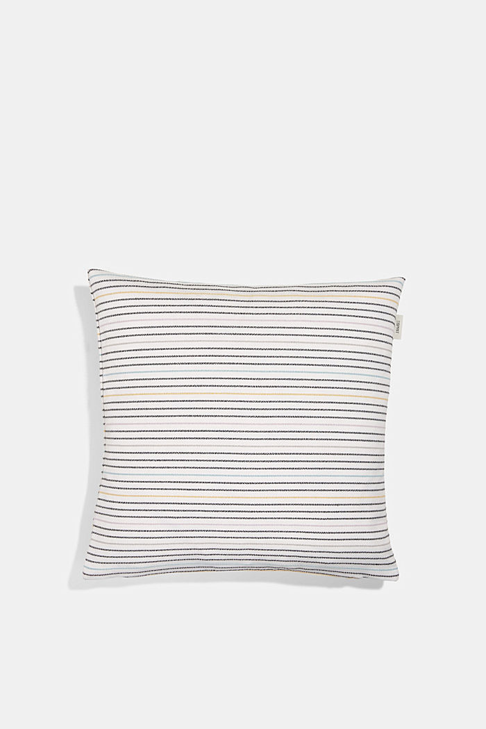 Recycled: cushion cover with a striped texture, MULTI, detail image number 0