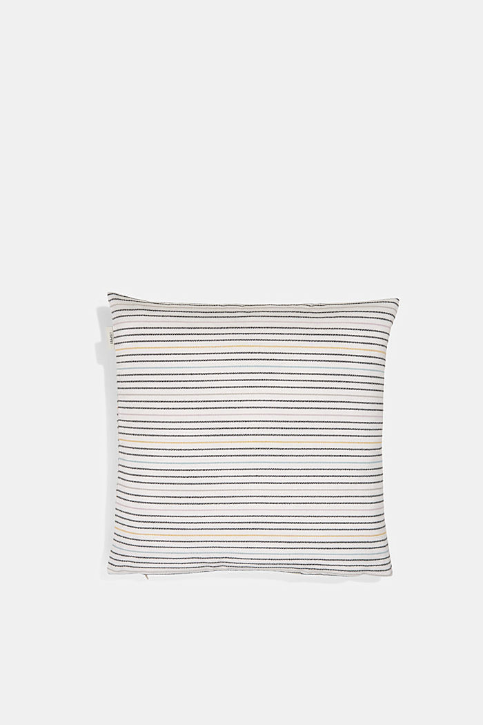 Recycled: cushion cover with a striped texture, MULTI, detail image number 2