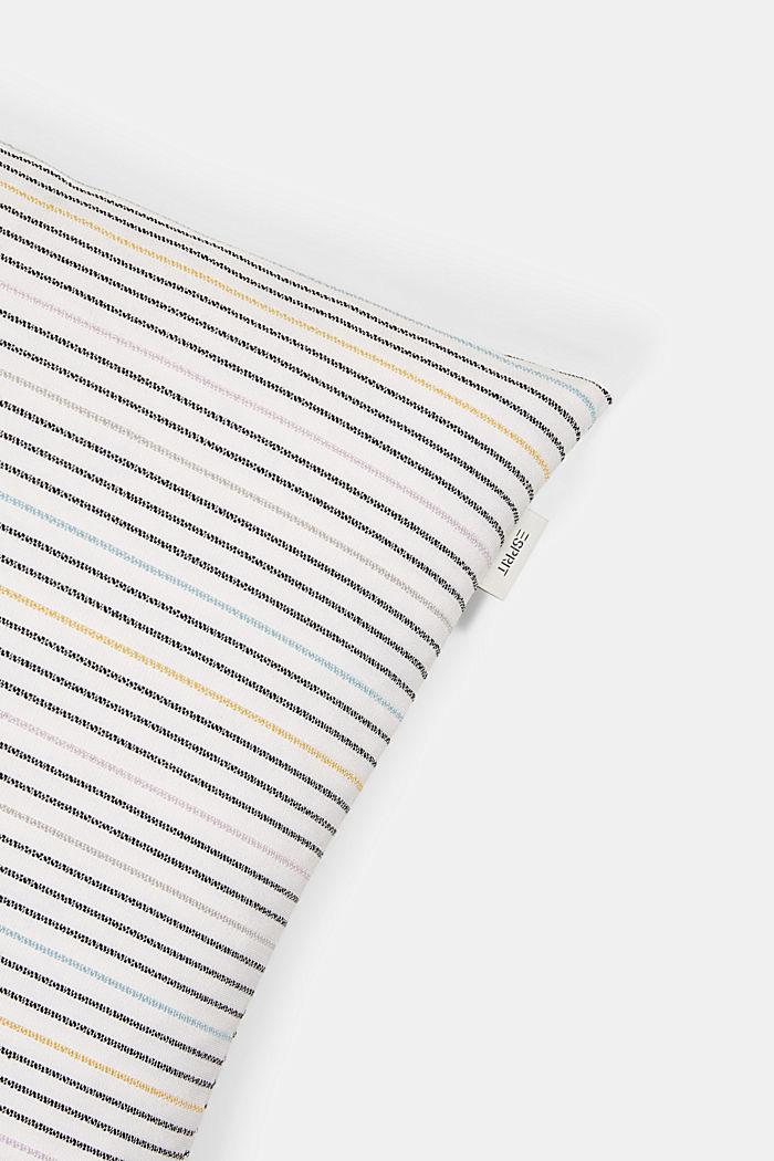 Recycelt: Kissenhülle mit Streifen-Struktur