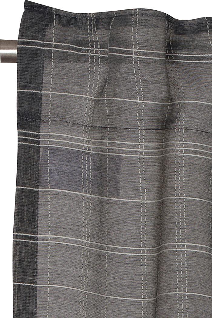 Kierrätettyä: läpinäkyvä ruudullinen verho, ANTHRACITE, detail image number 1