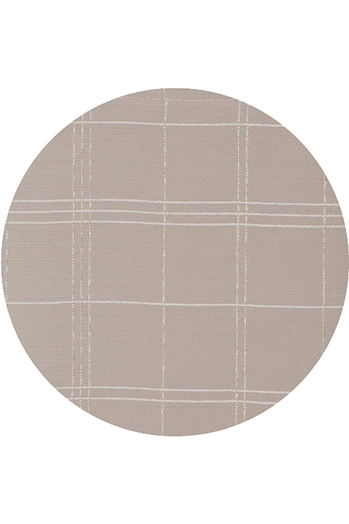 In materiale riciclato: tenda trasparente a quadri, BEIGE, detail image number 2