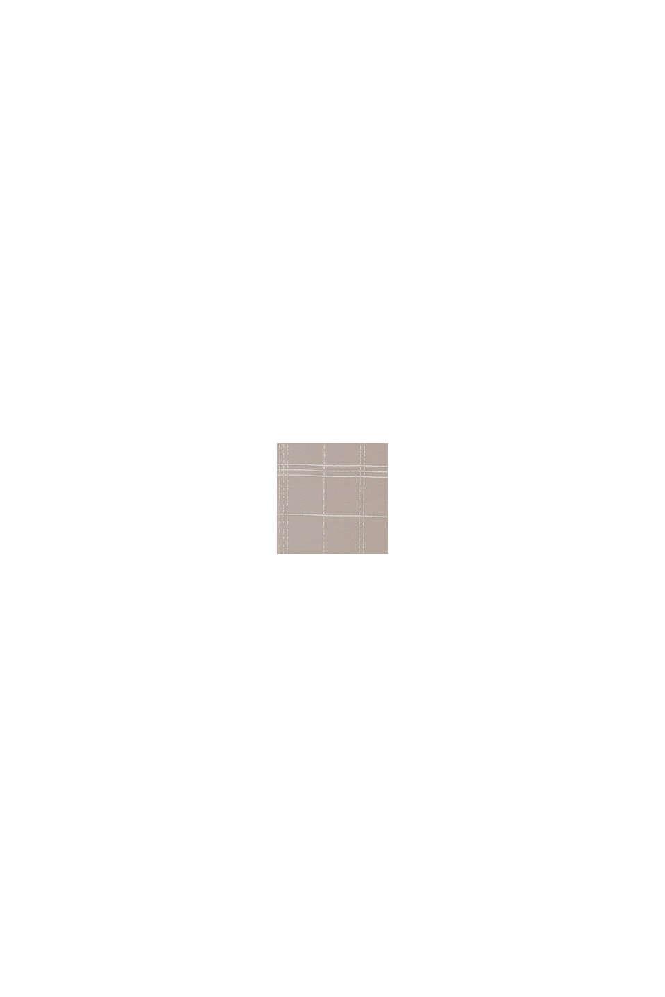 Reciclada: cortina transparente con diseño de cuadros, BEIGE, swatch