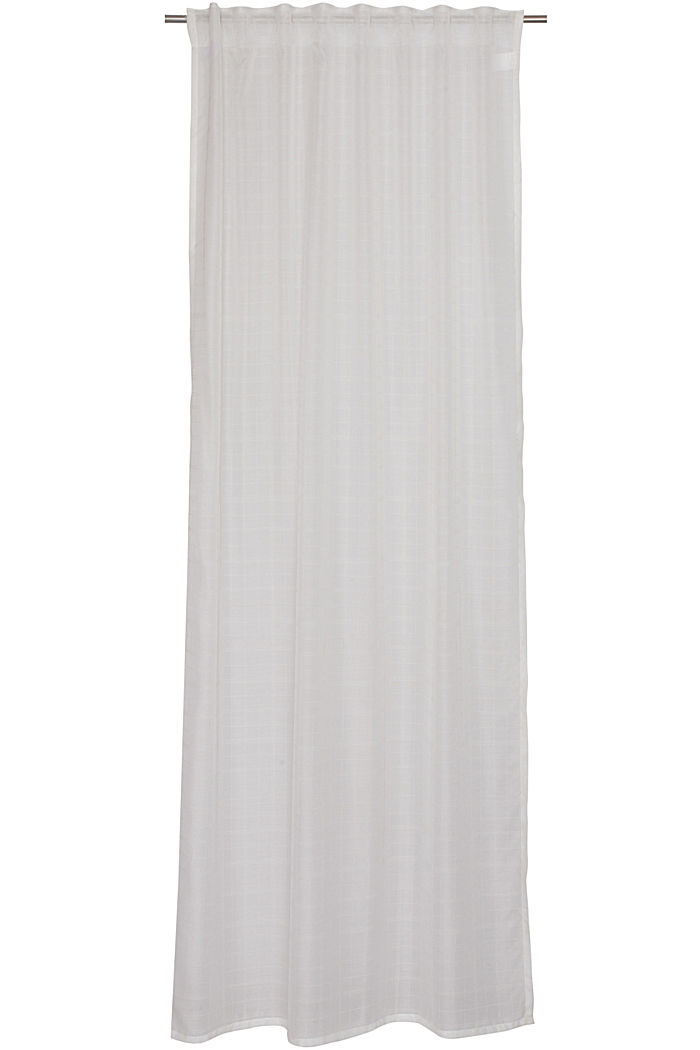 Kierrätettyä: läpinäkyvä ruudullinen verho, OFF WHITE, detail image number 0