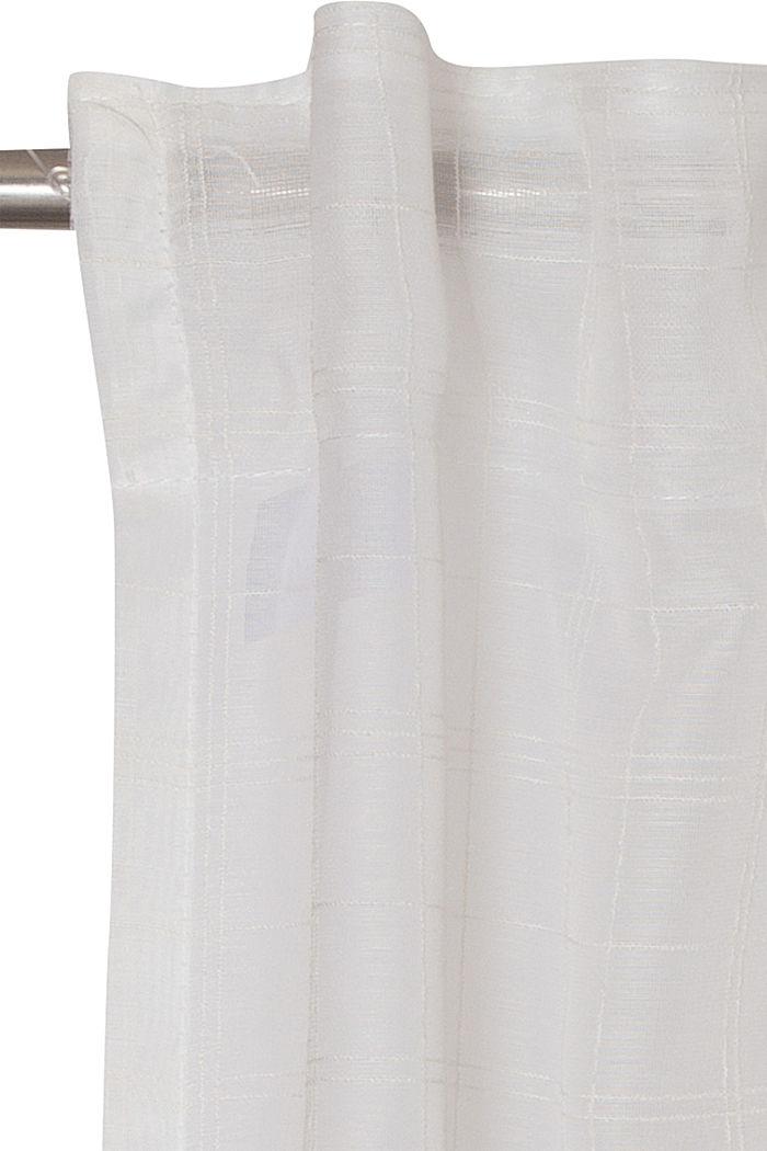 Kierrätettyä: läpinäkyvä ruudullinen verho, OFF WHITE, detail image number 1