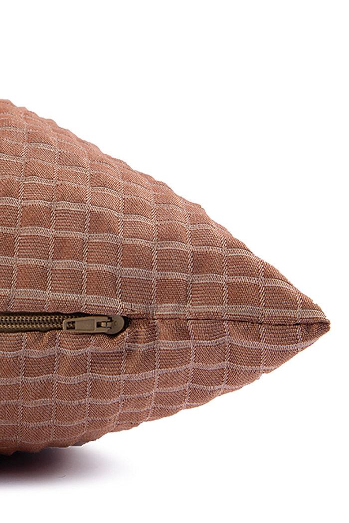 Kierrätettyä: 3D-ruutukuvioinen tyynynpäällinen, BRONZE, detail image number 4