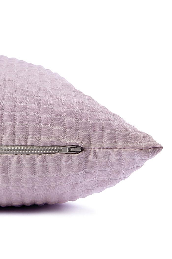 Recycelt: Kissenhülle mit 3D-Karomuster, LILAC, detail image number 3