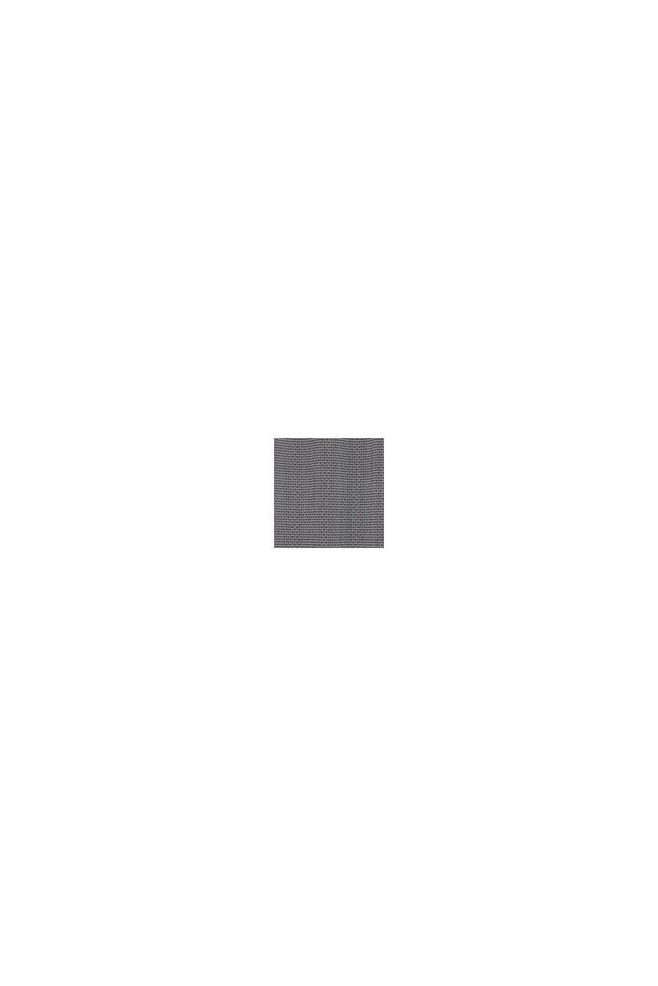 Reciclada: cortina de ojales con textura de cuadros, ANTHRACITE, swatch